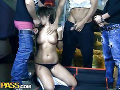 That's way I say females should be banned from driving! Nearly All accidents happen 'coz women ignore the rules. This hardcore xxx clip will tell u a story of such careless youthful beauty who got into an accident and urinated off three horny Russian studs. They made her pay for the damage that babe caused but not with money. Guys offered her to cover the losses with outdoor group sex. And the chick didn't mind cause that babe didn't want to pay for the broken car. Of course they filmed a double penetration episode ...