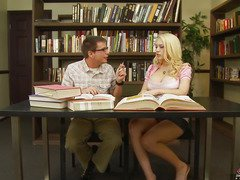 We all know that Kagney Linn Karter isn't a model student.  All that babe wants to do is get some hard knob betwixt her legs.  That Babe tells her study mate here that that babe doesn't want to do homework, just fuck and engulf, then let the cum drip out and onto her books.