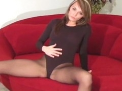 Amazing solo beauty fingers horny bawdy cleft throughout constricted hose